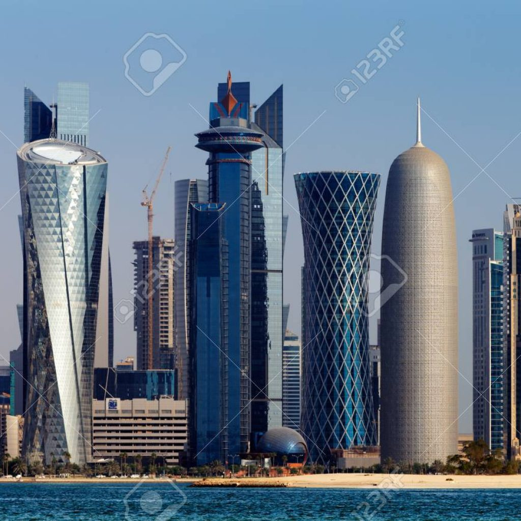 24923468-doha-qatar-the-west-bay-city-skyline-as-viewed-from-the-grand-mosque-doha